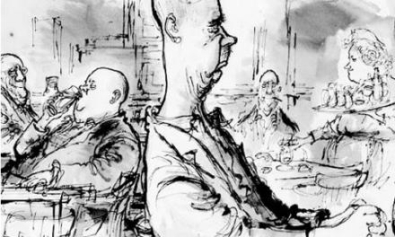 Ronald Searle, Fugitive [Ronald Searle – The Fugitive.] (Mike Leigh / Alexander Roob)